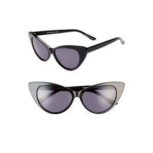 Something Navy 55mm Cat Eye Sunglasse